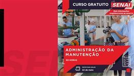 CURSO GRATUITO - ADMINISTRAÇÃO DA MANUTENÇÃO